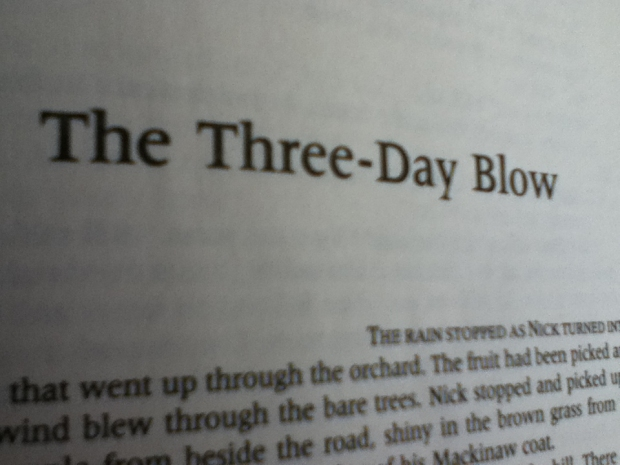 The Three Day Blow