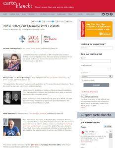 2014 3Macs carte blanche Prize finalists.